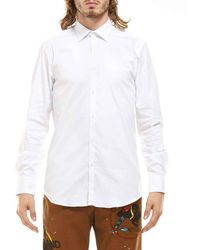 Aglini Shirt Basic Long Sleeves - White