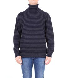 Altea - Sweater Men Blue And Dark Gray - Lyst