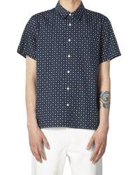 A.P.C. - . Short Sleeve Cippi Shirt - Navy - Lyst