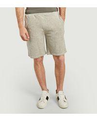 Majestic Filatures Terry Cloth Cotton And Modal Shorts Gris Chinãƒâ© Clair - Grey