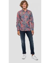 Replay Multicolour Shirt With Paisley Print