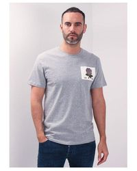 Kent & Curwen Rose Patch Icon T-shirt Colour: Grey