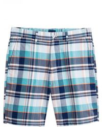 GANT Madras Shorts Waist - Blue