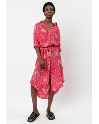 Religion Roots Shirt Dress - Raspberry Sorbet - Pink