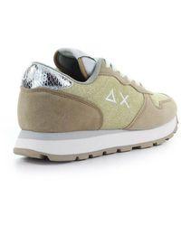 Sun68 Ally Thin Glitter Sneaker - Metallic