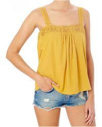 Star Mela Avi Mustard Camisole Top - Yellow