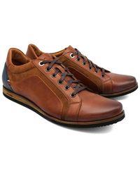 Lacuzzo Leather Semi Trainer Tan Shoe 6 - Brown