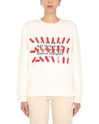 Maison Margiela Crew Neck Sweatshirt - White