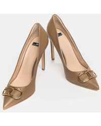 Elisabetta Franchi Cleavage Rosegold With Gold Logo - Multicolor