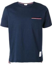 Thom Browne Men's Mjs010a01454415 Blue Cotton T-shirt