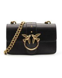 Pinko Women's 1p221ry6xtz99 Black Leather Shoulder Bag