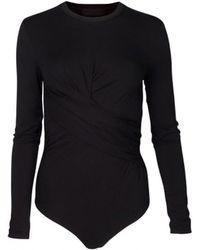 Kendall + Kylie - Black Twist Bodysuit 17142tk - Lyst