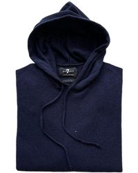 7 For All Mankind Seven For All Mankind Navy Cashmere Hooded Sweater Navy - Blue