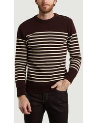 Armor Lux Heritage Wool Sweater Chianti Chiné Nature - Black