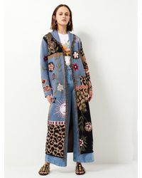 Hayley Menzies Enchanted Leopard Cotton Duster - Blue
