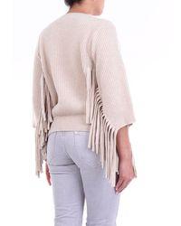 Stella McCartney Beige Crewneck Sweater With 3/4 Sleeves - Natural