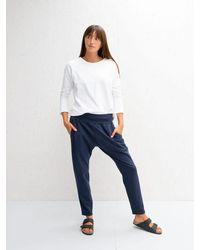 Chalk Robyn Loungewear Trousers - Navy - Blue