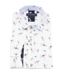 Guide London Dragonfly Print White Shirt