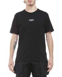 White Mountaineering T-shirt Printing - Black