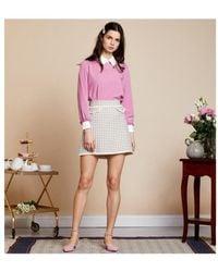 Sister Jane - Demure Tweed Mini Skirt - Lyst