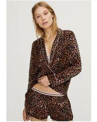 Love Stories Vigo Pyjama Shirt - Brown