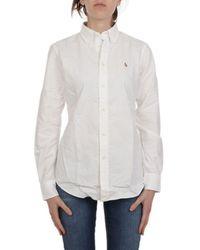 Ralph Lauren Women's 211743355001 White Cotton Shirt