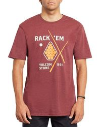 Volcom | Rack Ball Hth Tee | Red