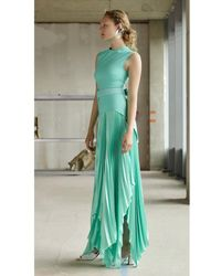 Solace London Anya Dress Mint - Green