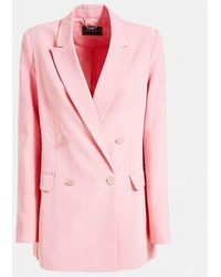 Guess Double Breasted Blazer - Pink