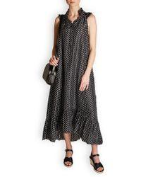 MASSCOB Dunn Silk Print Dress - Black