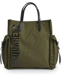 DSquared² Ryan Canvas Military Tote Bag