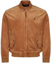 Ralph Lauren Jacket Stretch Corduroy - Tan - Brown