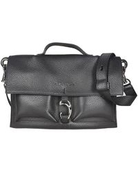 Orciani - Women's B02088softblack Black Leather Handbag - Lyst