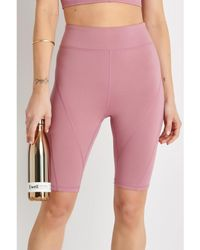 Free People High-rise Biker Baby Short - Frosted Berry - Pink