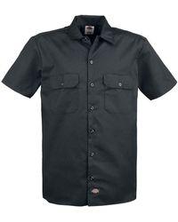 Dickies   Short Sleeves Work Shirt   Black