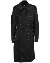 Marine Serre Moire Paneled Trench Coat - Black