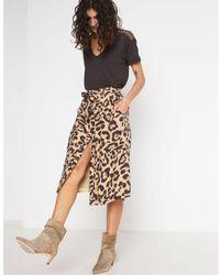 Swildens Alison Leopard Skirt - Multicolour
