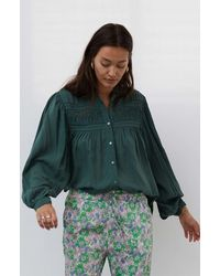 Lolly's Laundry Lollys Laundry Cara Blouse Groen 21461-2036-cara-49 - Green