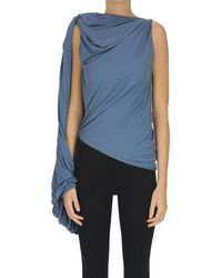 JW Anderson Draped One-sleeve Top - Blue