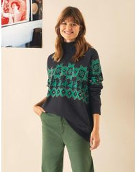 Leon & Harper Sozey Nordic Sweatshirt -tourmaline - Black