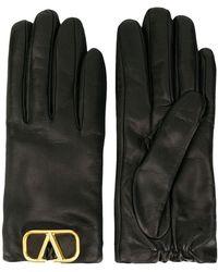 Valentino Garavani Women's Uw2gda00wjw0no Black Leather Gloves