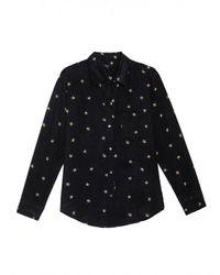 Rails Kate Silk Star Animal Shirt Colour: Noir - Black