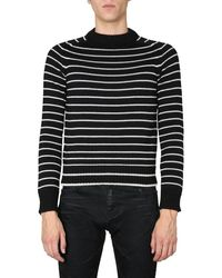 Saint Laurent Crew Neck Sweater - Black