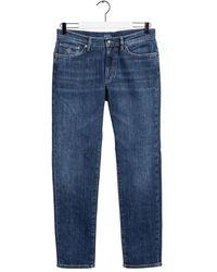 GANT Slim Jeans Colour: Dark Worn In - Blue