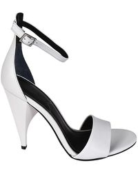 Kendall + Kylie Emilee Sculpture Heel White Sandals - Green