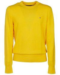 Tommy Hilfiger Men's Mw0mw11674zpk Yellow Cotton Jumper