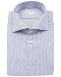 Kiton Men's 733321 Light Blue Cotton Shirt