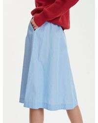 Libertine-Libertine Global Blue And White Stripe Skirt