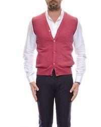 Cruciani Cotton Vest Red