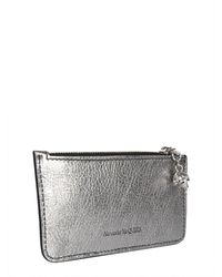 McQ Zipper Card Holder - Metallic